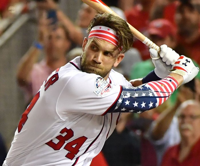 Harper takes home run derby crown at home ballpark