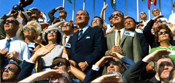 Families watch Apollo blastoff