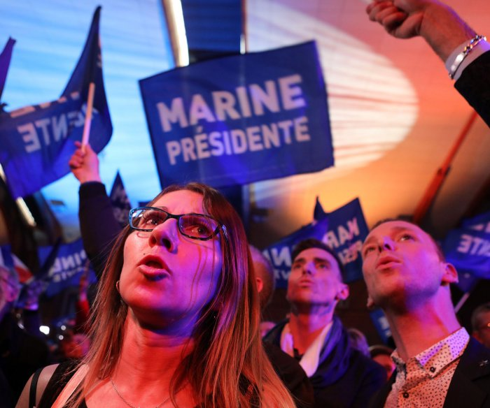 143 arrested in Paris protests after first-round election