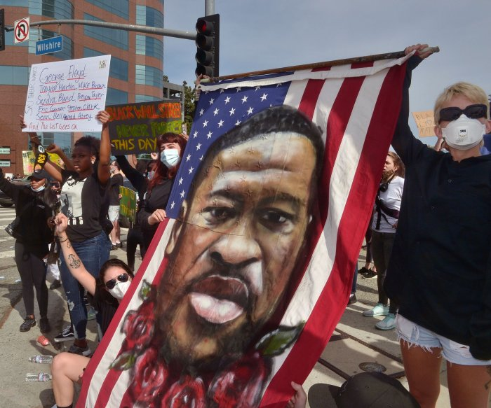 Protesters demand justice in police killing of George Floyd