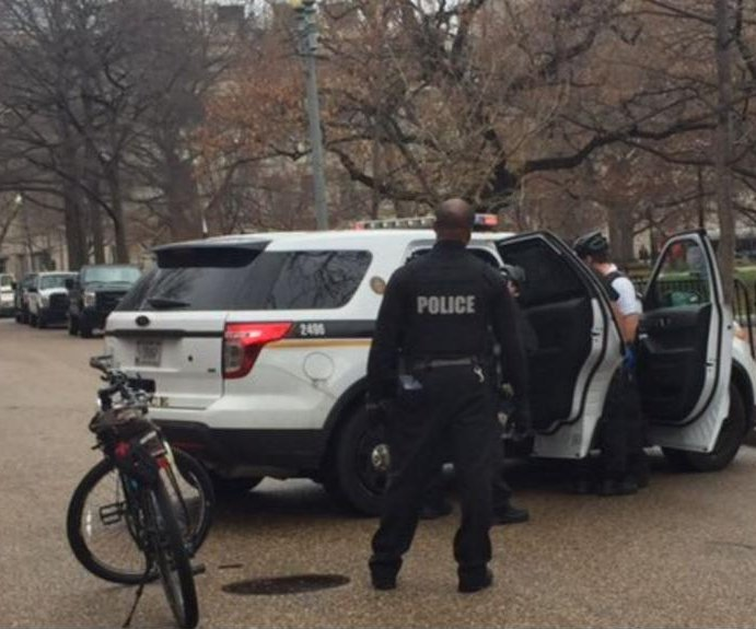 White House on brief lockdown after man on grounds said he had bomb
