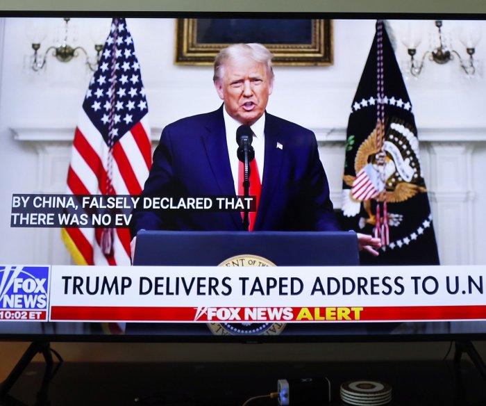 Trump blasts China over COVID-19 on 1st day of U.N. General Debate