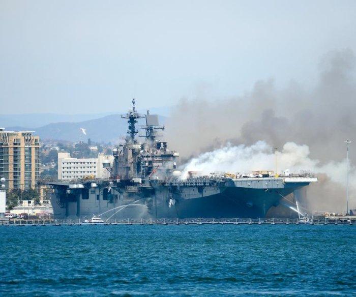21 people injured in USS Bonhomme Richard fire