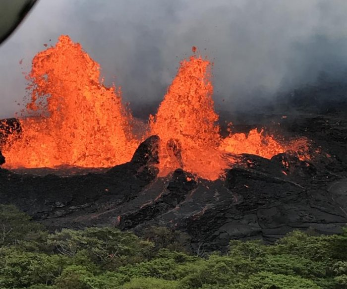 Lava from Hawaii's Kilauea Volcano nears power plant