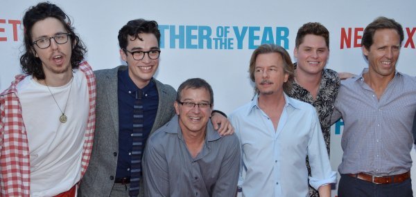 David Spade, Nat Faxon attend 'Father of the Year' premiere