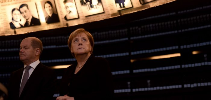 German Chancellor Angela Merkel makes official visit to Israel