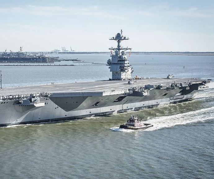 Watch live: Trump speaks, Navy commissions USS Gerald R. Ford