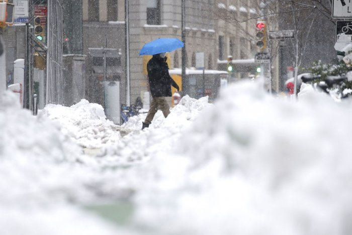 Scenes from Northeast snow storm