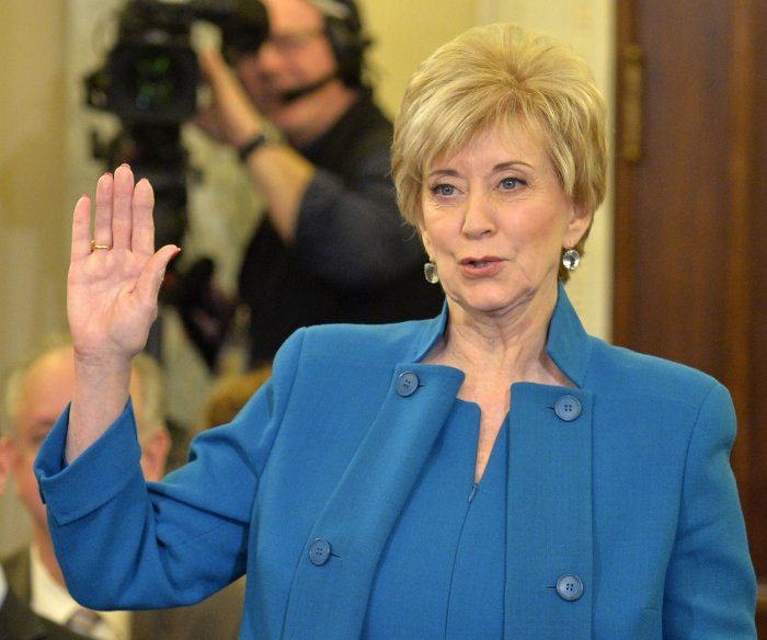 Former WWE exec McMahon pledges to back 'little guy' as SBA chief