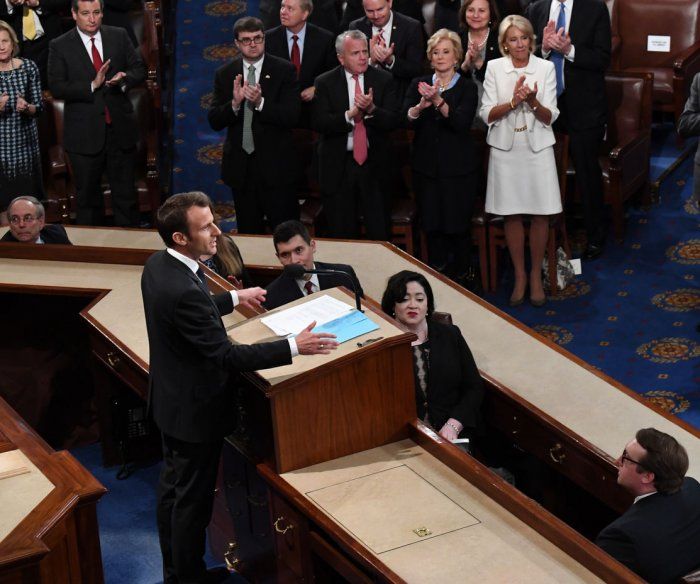 Macron urges Congress on climate change: 'There is no Planet B'