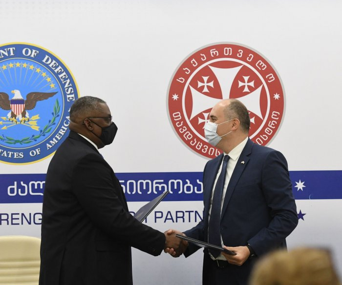 Citing Russian occupation, U.S. signs new defense pact with Georgia