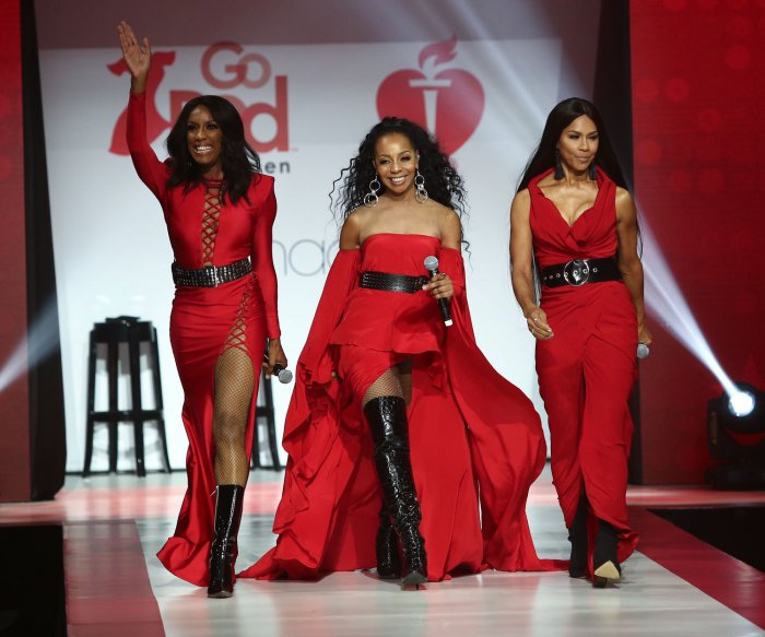 On the runway at Go Red For Women