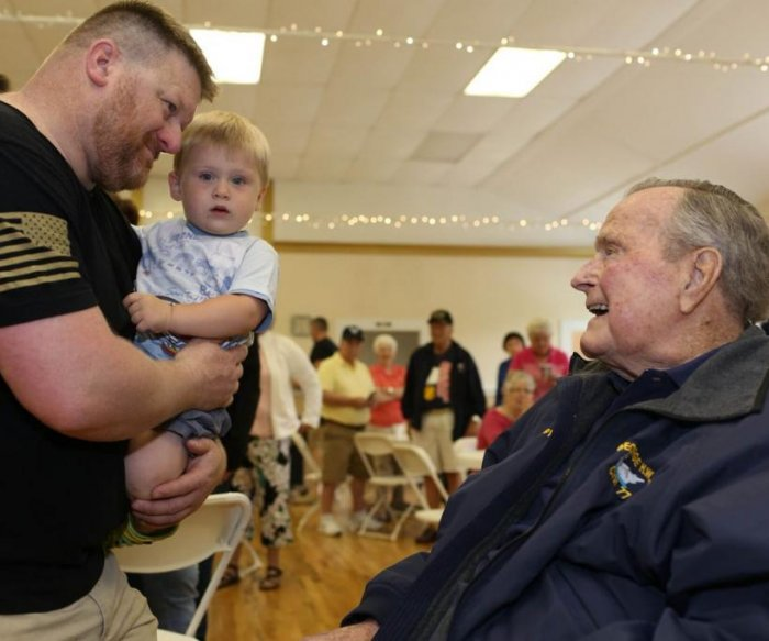 George H.W. Bush hospitalized with low blood pressure, fatigue