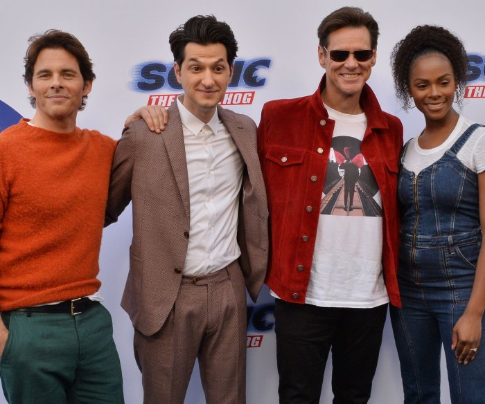 Jim Carrey, James Marsden attend 'Sonic the Hedgehog' family event