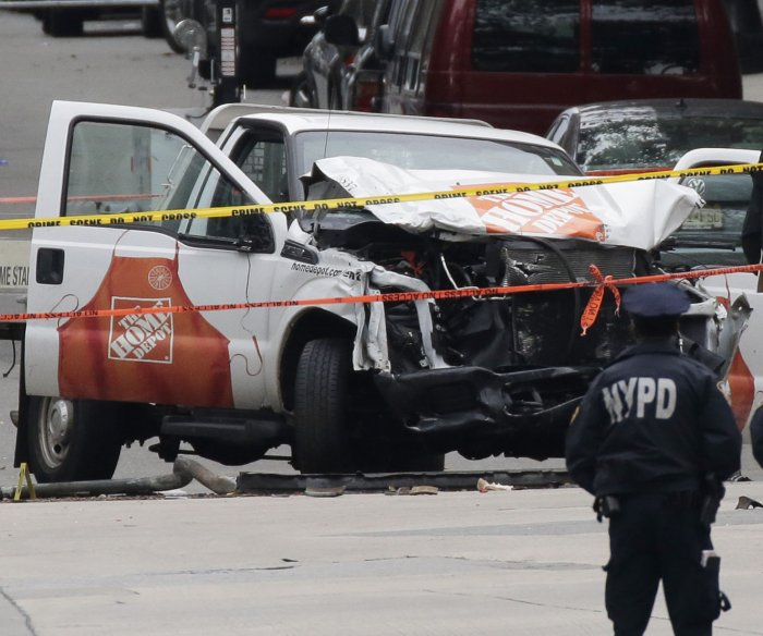 NYC truck attack suspect charged with 8 counts of murder, terrorism