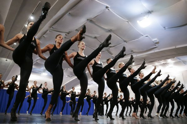 The Rockettes rehearse for Christmas Spectacular