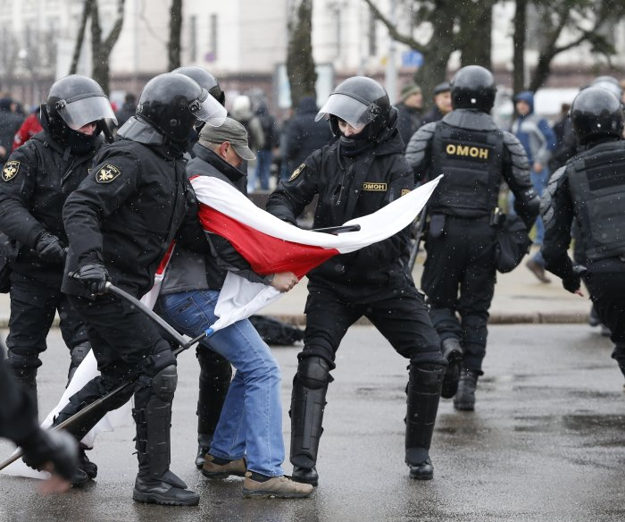 Belarus protesters arrested while marching against 'parasite' tax
