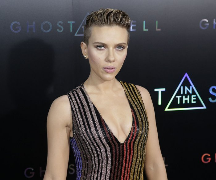 Scarlett Johansson attends 'Ghost in the Shell' premiere in New York