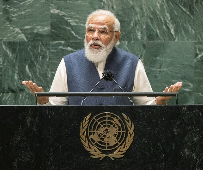Indian PM Modi touches on Afghanistan, pandemic in U.N. address