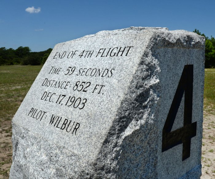 The Wright Brothers National Memorial near Kitty Hawk