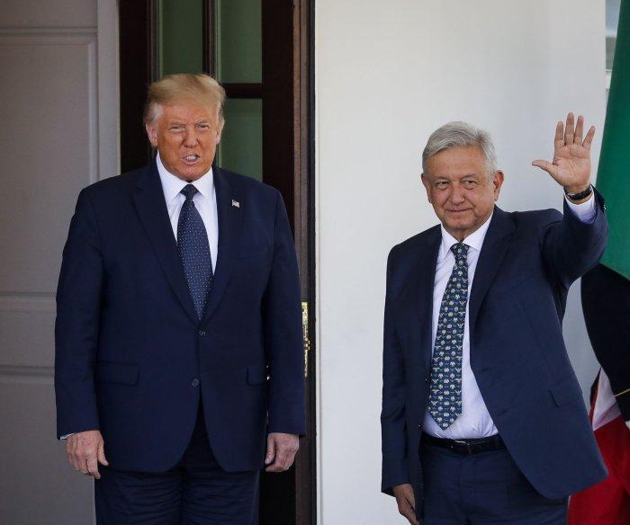 Trump, Lopez Obrador celebrate USMCA with joint declaration