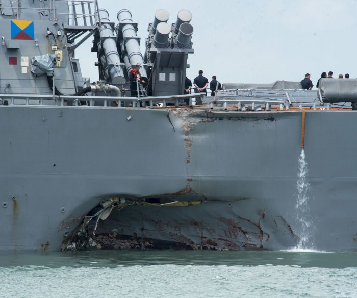 Commander of USS John S McCain pleads guilty, retires