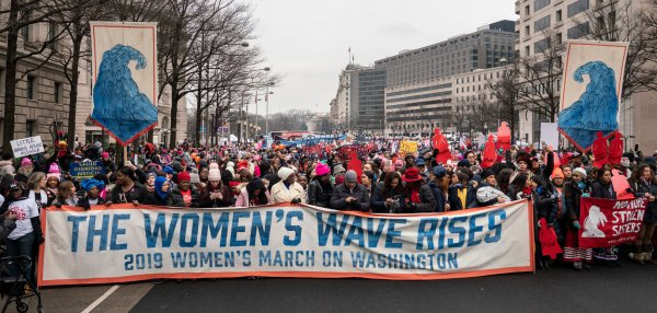 Activists rally at third annual Women's March in D.C., New York