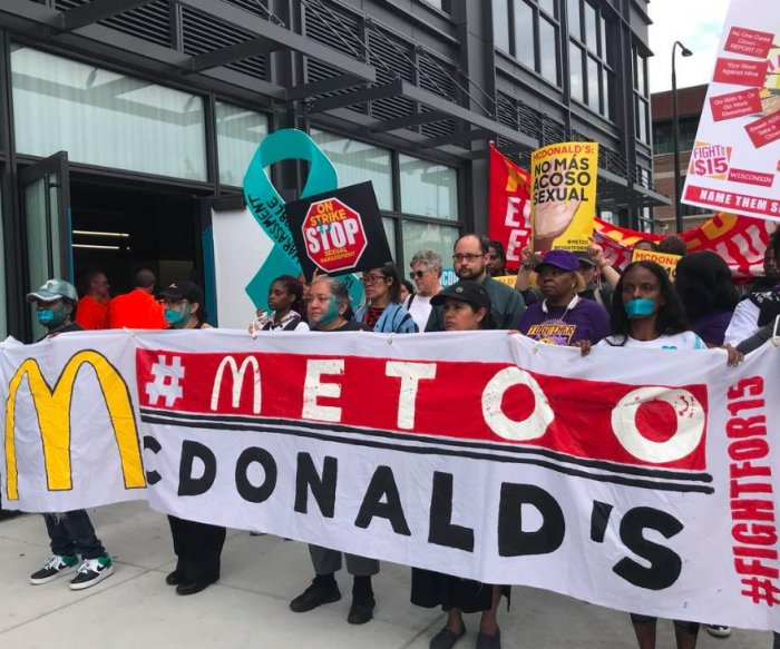 McDonald's workers strike to protest sexual harassment