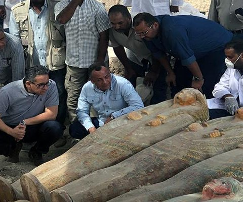 Coffins of 3,000-year-old mummies opened in Egypt