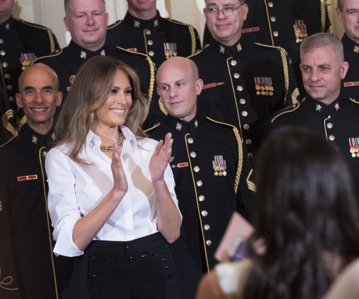 Trumps welcome military spouses to White House