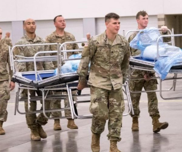 Military medical personnel dealing with COVID-19 return home