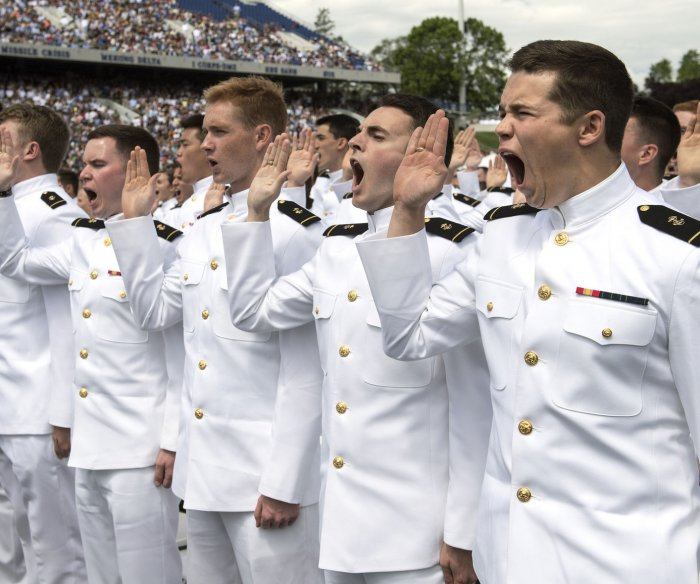 U.S. Naval Academy graduation, commissioning ceremony