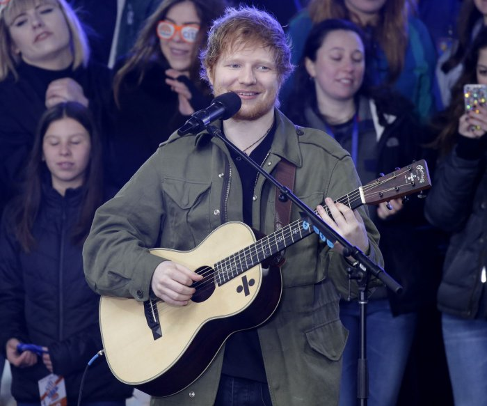 In photos: Ed Sheeran performs on 'Today'