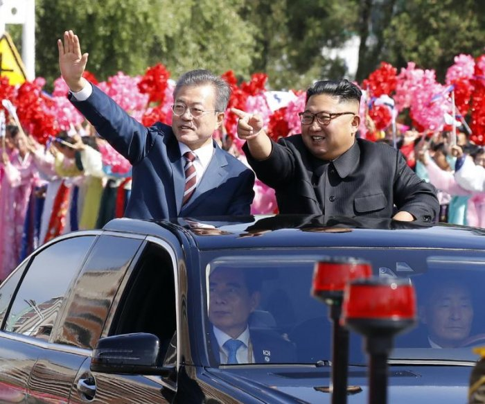 Leaders Kim Jong Un, Moon Jae-in meet in Pyongyang