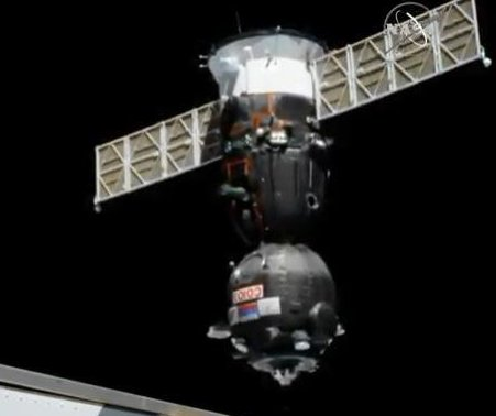 Soyuz capsule docks successfully at International Space Station