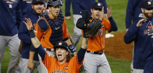 Houston Astros celebrate Wild Card win