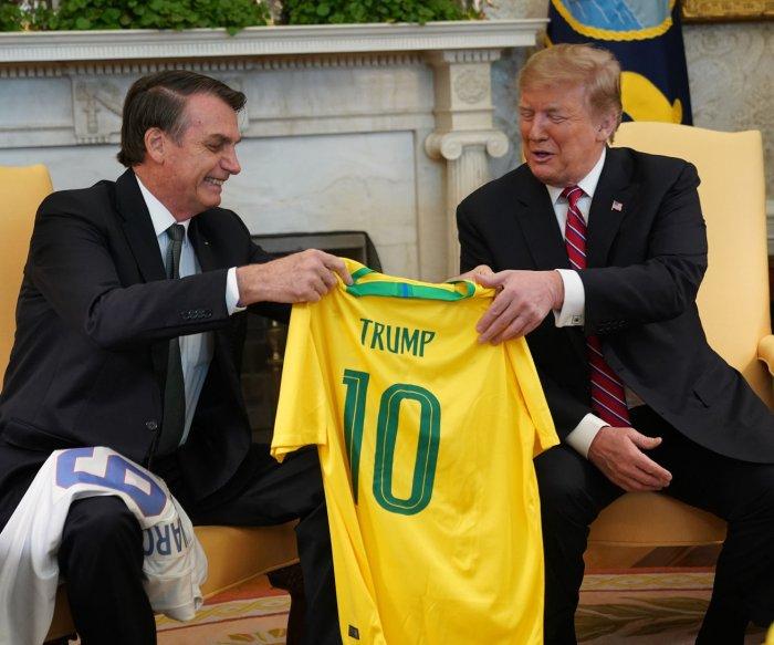 Trump, Bolsonaro vow fight against socialism
