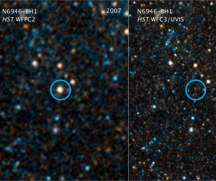 Astronomers witness star's death, birth of new black hole