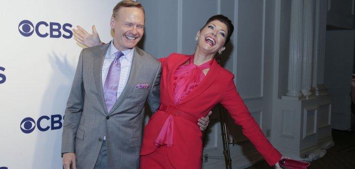 CBS stars walk Upfront red carpet