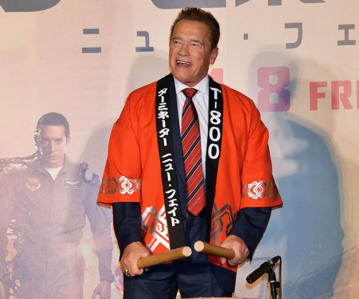 Arnold Schwarzenegger attends premiere, press conference for 'Terminator: Dark Fate' in Tokyo
