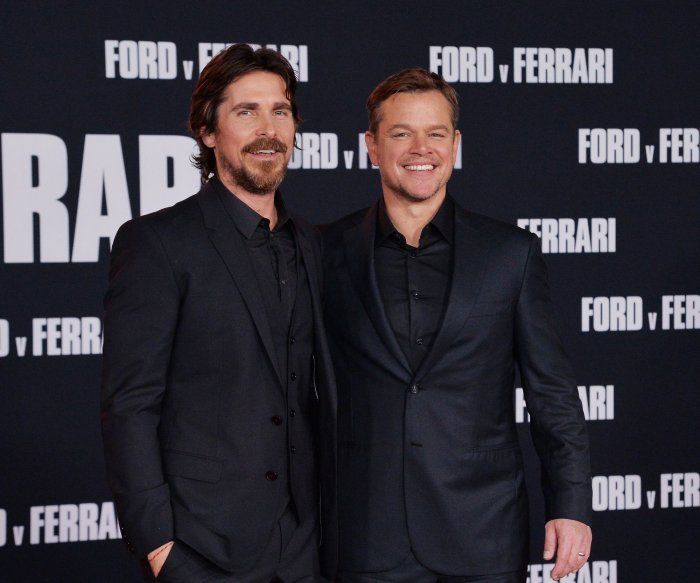Christian Bale, Matt Damon attend 'Ford v Ferrari' premiere in LA