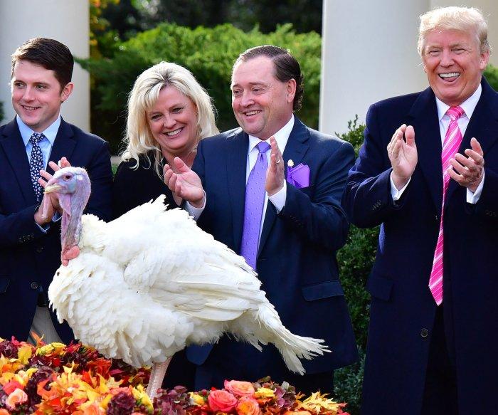 President Trump pardons Drumstick the turkey