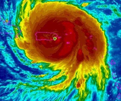 Eye of Hurricane Maria nears Puerto Rico
