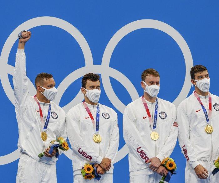 Olympics: U.S. wins men's 4x100-meter freestyle relay