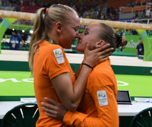 Rio Olympics: Hugs and kisses