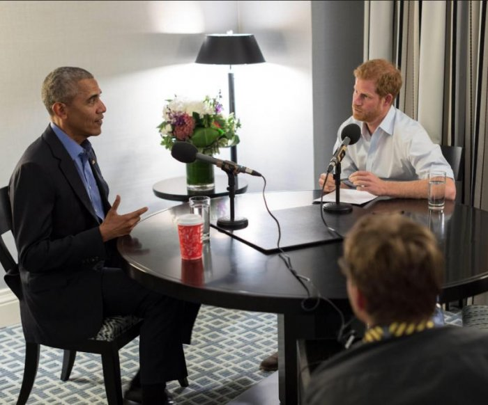 Prince Harry, Obama crack wise before radio interview