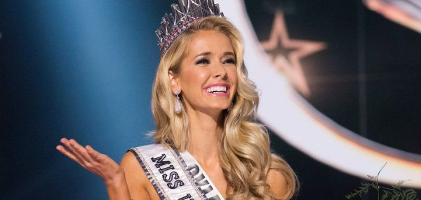 Olivia Jordan is crowned the new Miss USA