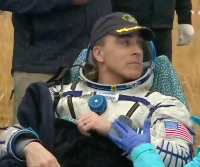 NASA astronaut, two cosmonauts land in Kazakhstan after departing space station