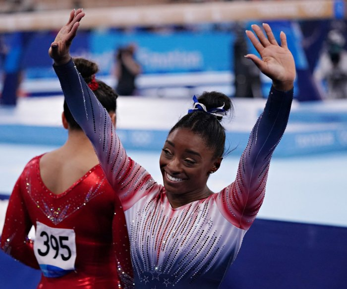 Simone Biles says giving up dream 'wasn't easy,' open to 2024 Olympics