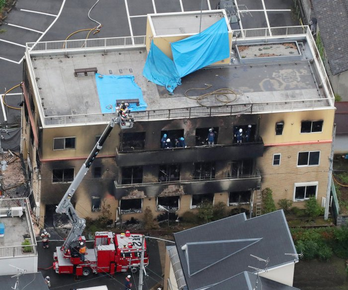 33 killed, dozens injured in fire at Japanese anime studio; arson suspected
